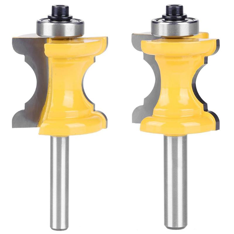1/4 8mm Shank Woodworking Cutter Router Bit Shaker Rail Stile Milling Cutter Drill Tenon Tool For Wood Panel Cabinet Door