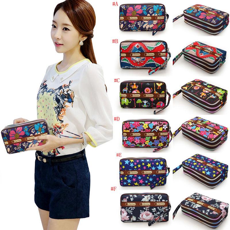 Women Wallet Wristlet Lady Card Coin Holder Ladies Long Wallet Clutch Zipper Purse Girl Wallet