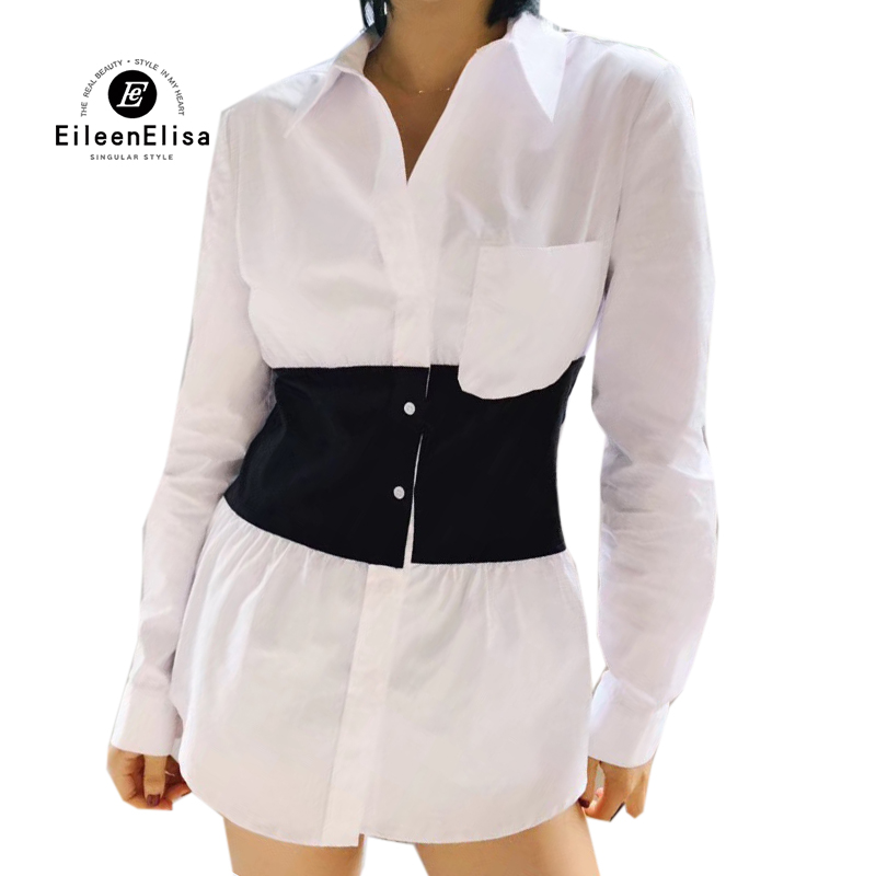 d717cea6021e7 Larga Manga Moda Blanco Mujer Casual Tops De Las Ropa abajo 2019 Giro Blusa  Collar Camisa Mujeres 7YwT6XqXpR