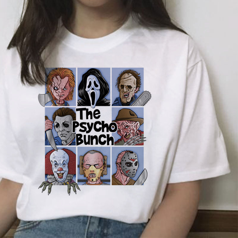 chucky   t     shirt   Horror High cool women top Quality new streetwear tee   t  -  shirt   fashion ulzzang female   shirts   femme new tshirt