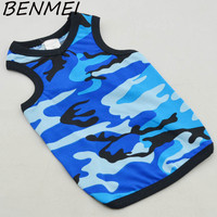 BENMEI Camouflage Color Printed Large Dog Clothes Pet Puppy Apparel Big Dog Vest Spring Summer Cotton Clothes