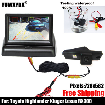 free shipping!!! SONY CCD Chip Sensor Special Car Rear View Reverse Parking CAMERA for Toyota Highlander /Kluger /Lexus RX300 image