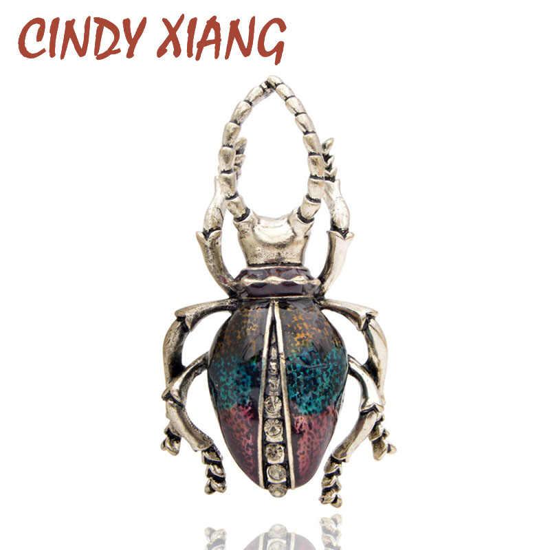 Cindy Xiang Lucu Enamel Bug Bros untuk Wanita Vintage Serangga Pin Fashion Beetle Perhiasan Ransel Lencana Perhiasan 3 Warna Memilih