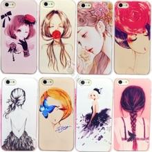 4 4S Низкая Цена Красивые Милые Девушки окрашенные Случаи для Apple iphone 4 4S Чехол Для iPhone4S Сотовый Телефон Покрытия Оболочки Высокого качество