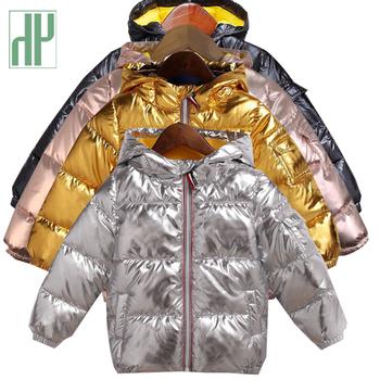 HH dzieci kurtka zimowa dla dzieci dziewczyna srebro złoto chłopcy casual Bluza z kapturem Odzież dziecięca Outwear dzieci Parka kurtka Snowsuit tanie i dobre opinie Odzież wierzchnia i Płaszcze W dół Parkas Regularne Bawełna 380g Hooded Unisex Sukno A4000183 Poliester bawełna