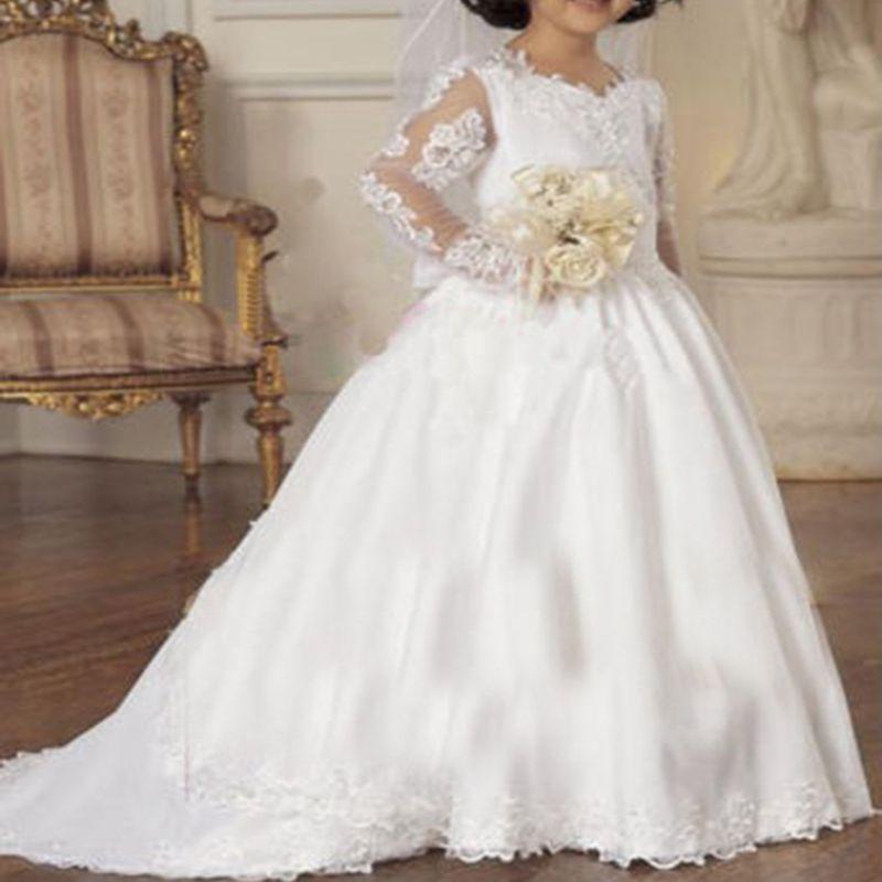 Online Get Cheap First Communion Dresses Long Sleeve -Aliexpress ...