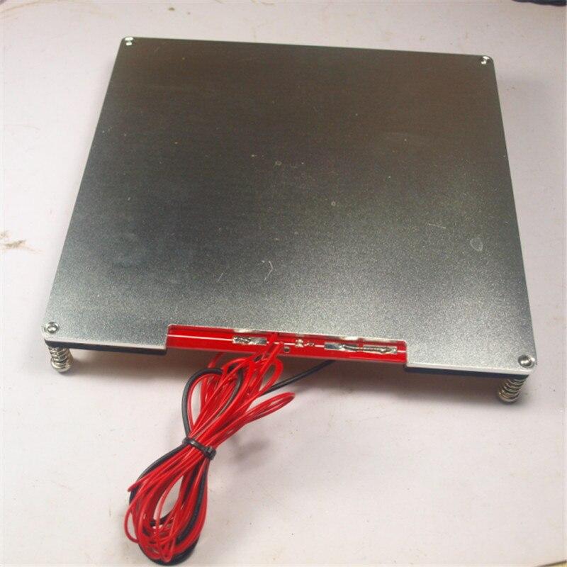 ФОТО Reprap Prusa 3D printer 12/24V 120W 214 x 214 mm MK2 PCB heated bed full kit aluminum alloy building plate + wooden plate