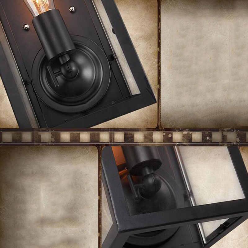 Ретро Лофт прикроватный балкон лестничный коридор номер паб, ресторан лампа для кафе ящик Пандоры настенный светильник, E27 настенный светильник для бюстгальтера