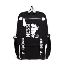 Messi Canvas Foot Ball Bag Boys Girls Backpack Large Capacity School Bag For Teenagers Men Women RuckSack Travel Bag Laptop Bag цена