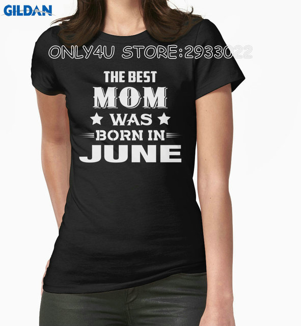 only4u screen printing t shirts o neck women the best mom was born ...