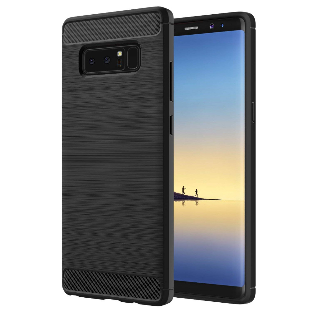 Soft Lightweight TPU case Cover Carbon Fiber Design Anti-Scratch Slim Back Panel Shock Aborsption case for Samsung Galaxy Note 8