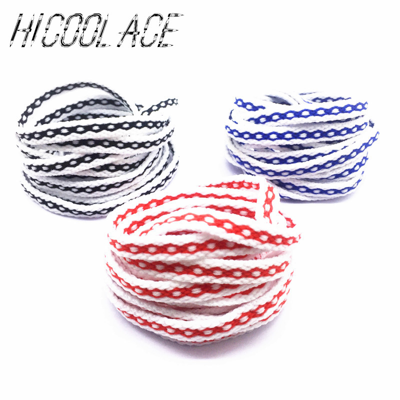 2018 New Style 120CM Chain Style Shoelaces Flat Braid Shoe Laces White Shoelaces for Casual Shoes fggs shoelaces light for shoes 60 cm white