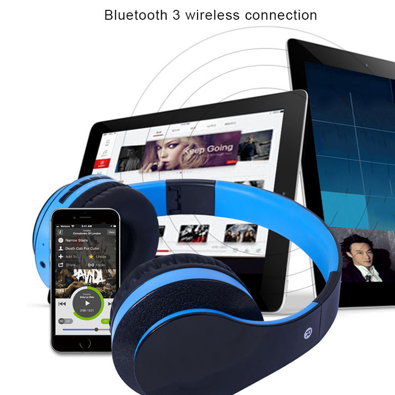 New High Quality Foldable design to fit your head Over Ear Bluetooth Headphones Foldable Hi-Fi Stereo Wireless Headset @JH ...