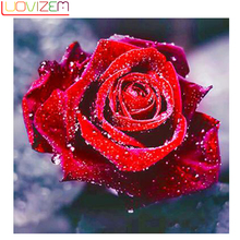 Flower diamond painting Diamond Embroidered Rose Icon Diy 5D Cross  Mosaic Home Decor LUOVIZEM L281