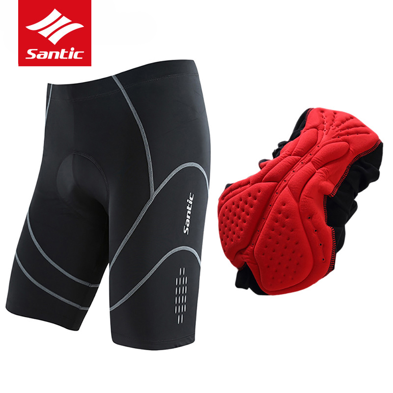 Santic Coolmax 4D Padded Cycling Shorts Shockproof MTB Road Bike Shorts Reflective Bicyc ...