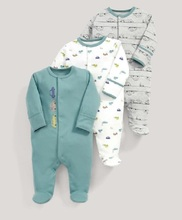 Baby's Jumpsuits with Long Sleeve, 3 Pcs Set