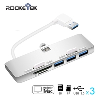 usb 3.0 hub 3 port adapter splitter with SD/TF Card Reader for iMac Slim Unibody pc computer accessories