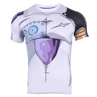 Double Luck Men Casual Compression T Shirt Short Sleeve O Neck Tops Classic Cartoon Character 3D