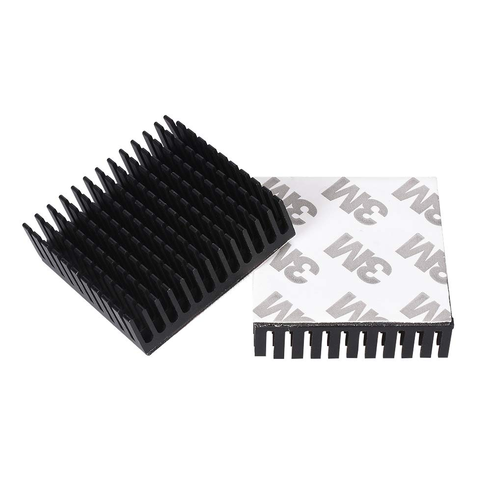 2Pcs Black Radiator Aluminum Motor Heatsink Extruded Profile Heat Dissipation Electronic Heat Sink For 42 Stepper Motor 3D Print