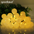 Goodland LED String Lights Solar 6M High Bright Outdoor Lighting Waterproof Fairy Lights Strings For Christmas Party Decoration