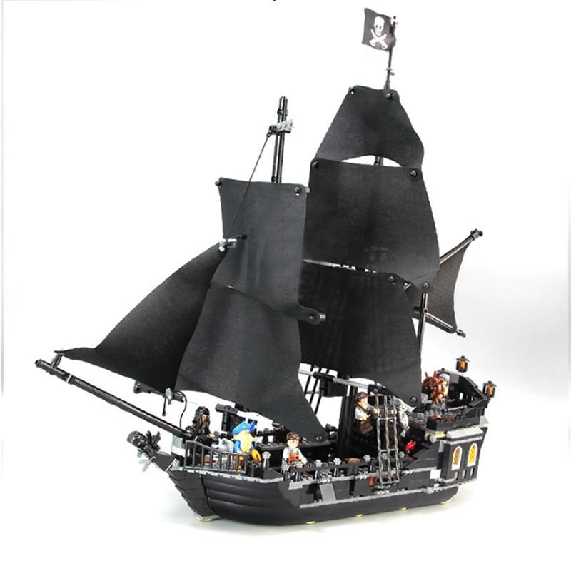 Pirates Des Caraïbes Noir Perle modèle de bateau blocs de construction jouets éducatifs Pour Enfants compatible avec Legoings Briques Cadeaux - 2