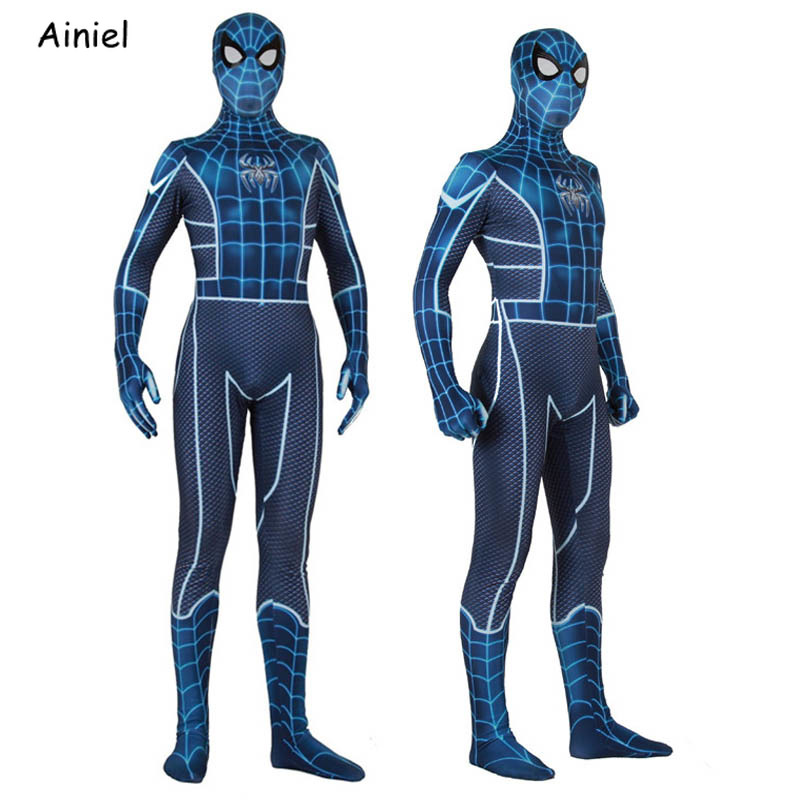 Adult Kids Spiderman Ps4 Insomniac Games Spider Man Fear Itself Cosplay Costume Spider Man Superhero Mask Zentai Halloween Men
