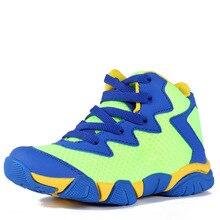 18 5 21cm Boys Kids Sneakers Mesh Children Sport Shoes Boys Girls Nonslip Shockproof Chaussure Basket