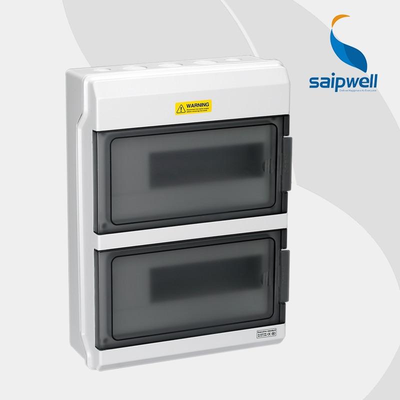 2014 New Hot Sale Saipwell 380*273*110mm 24 WAYS Waterproof MCB Distribution Box High Quality type GDB-24 saipwell most popular ip65 ht 5 ways waterproof electrical distribution box 150 110 90mm