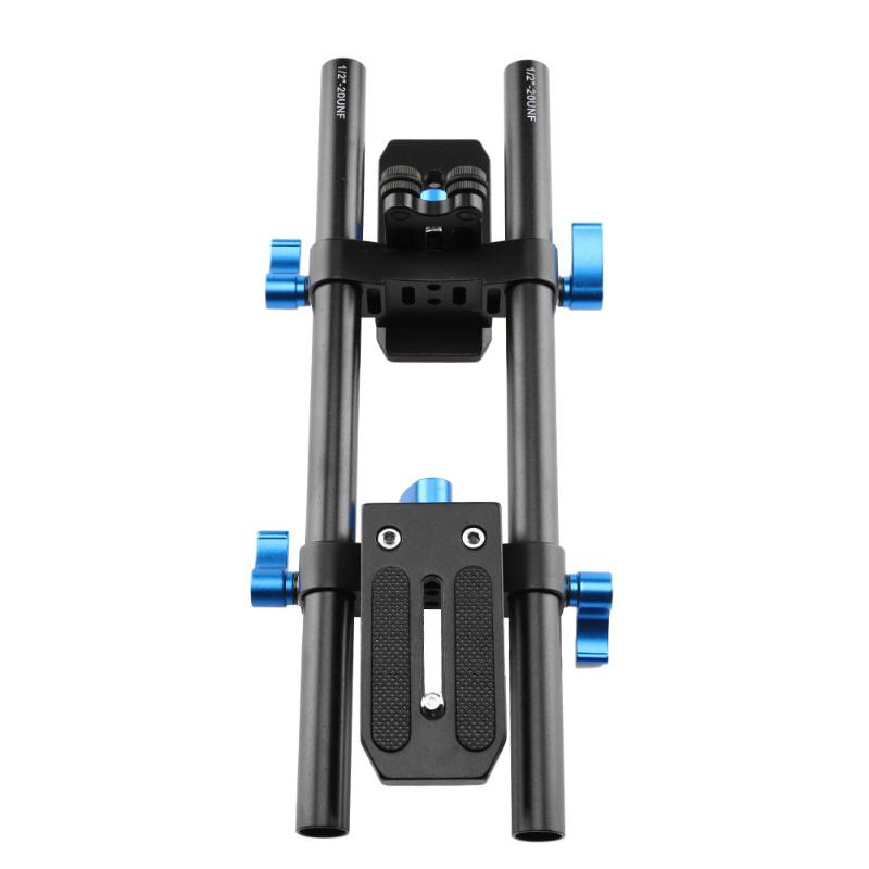 Universal Aluminium Alloy Rail System SLR Camera DV Slider Track Video Stabilizer Rail Track with 1/4 3/8 Screw Mount Adapter