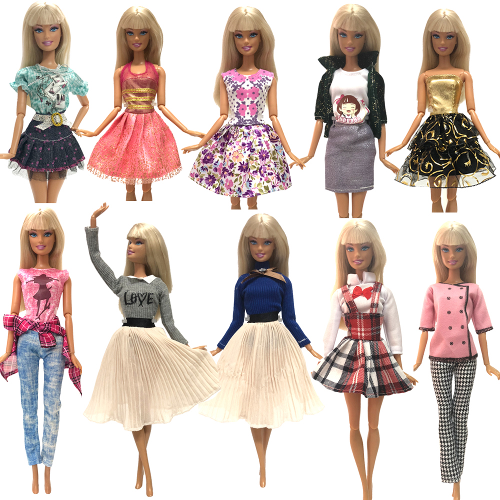 NK 2020 Doll Set Beautiful Sports  Clothes Top Fashion Dress For Barbie Noble Doll Accessories  Child Girls Gift Baby Toys JJ