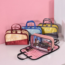 QIUYIN New Color Matching Cosmetics Storage Bag Two Sets of Wash PVC Cosmetic Ladies Makeup Travel Portable
