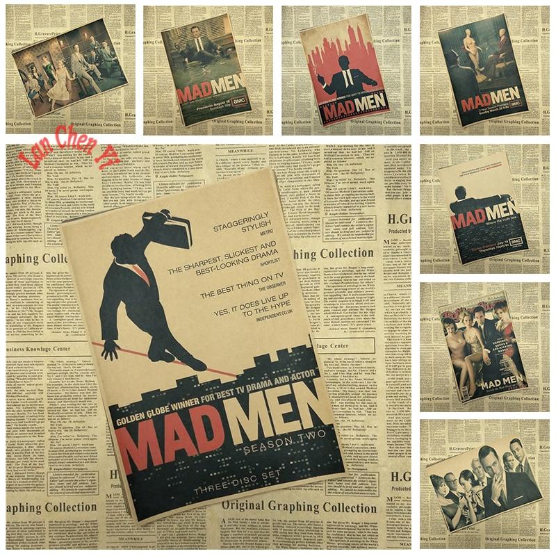 premiada pelcula mad men classic movie cartel de papel kraft caf creativo papel pintado decoracin interior