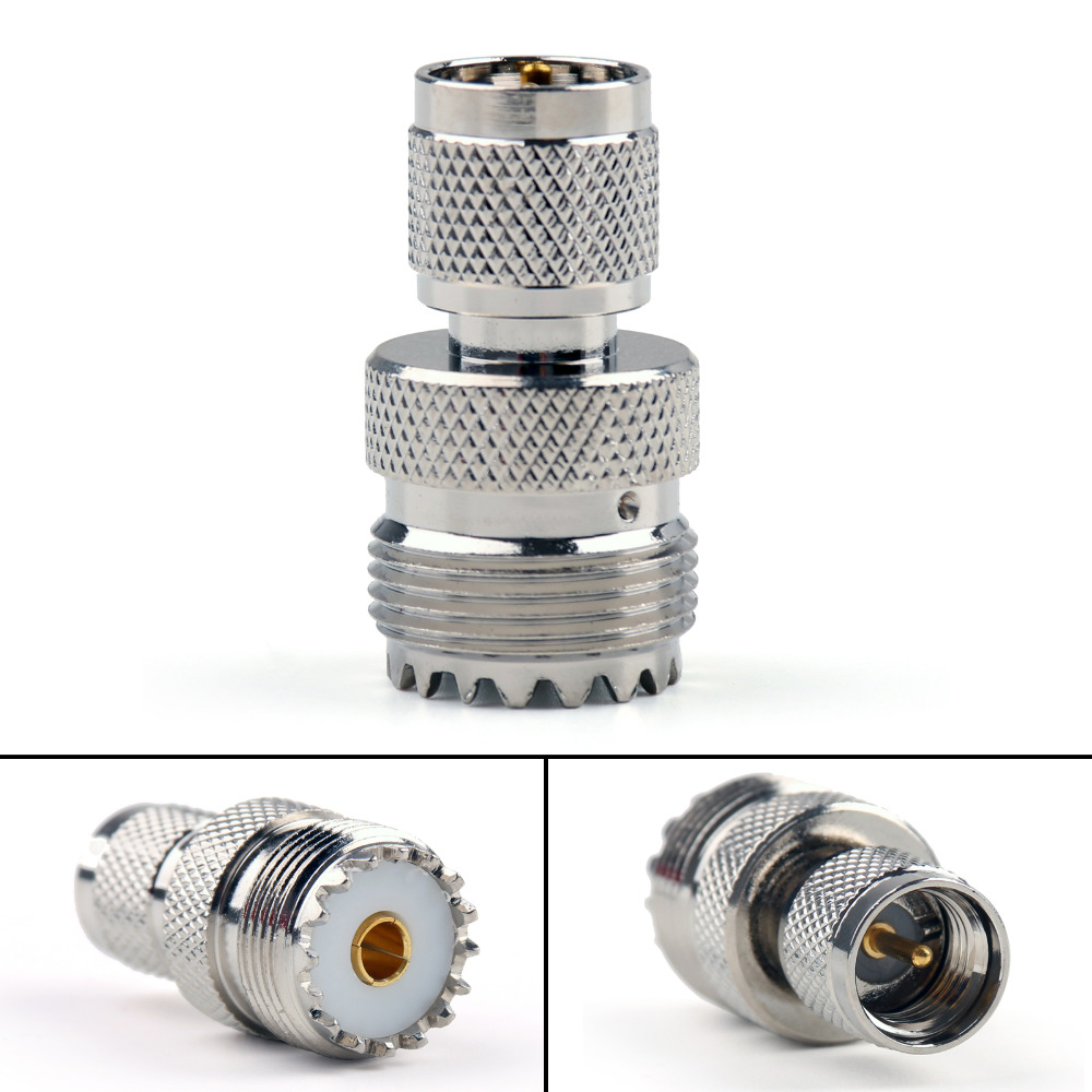 все цены на Areyourshop SO239 UHF Jack Plug Female To Mini UHF Male Plug Connector Straight F/M 50Ohm 1PCS High Quality Adapter Converter онлайн