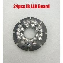 24 шт. 5 мм светодиодный ИК 15 метров 12mil DC 12 V PCB плата инфракрасного ночного видения для CCTV купольная пуля камера Корпус Корпуса