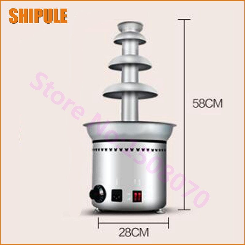 2018 SHIPULE On promotion stainless stell commercial chocolate fountain machine chocolate fountain making machine fast shipping food machine 6 layers chocolate fountains commercial chocolate waterfall machine with full stainless steel
