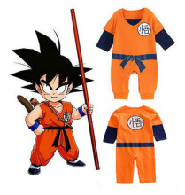 Dragon Ball Goku Baby Costume Newborn Infant Baby Boys Clothes Romper Outfits Long Sleeve Costume Goku Baby Rompers 0-24 Months