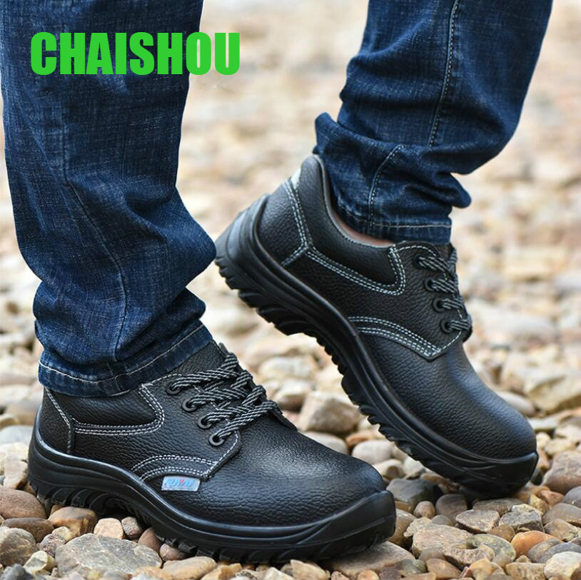 Hot Deal #01b44 Shoes Men Work Shoes Boots Genuine Leather