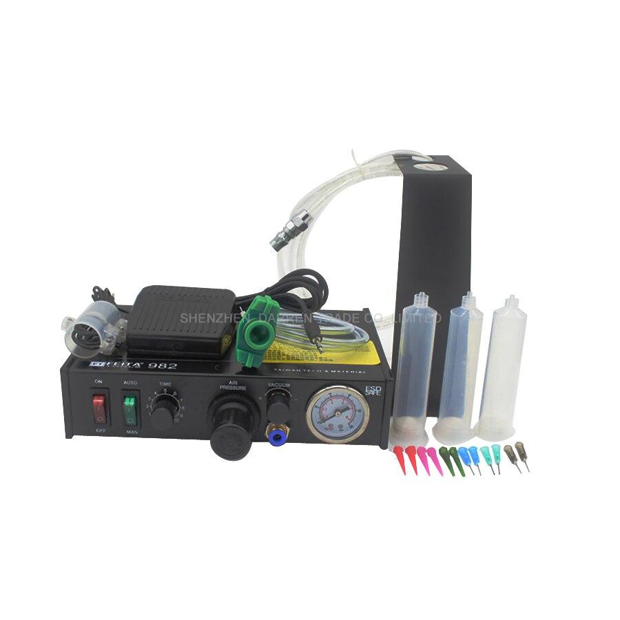 ФОТО 1pcs FT-982 Semi-automatic Glue Dispenser Glue Dispenser machine Glue Dispenser Solder Paste Liquid Controller