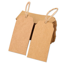 Kraft-Tags Clothing Blank-Paper Price Lists Wedding-Gift-Labels for Wholesale 100pcs