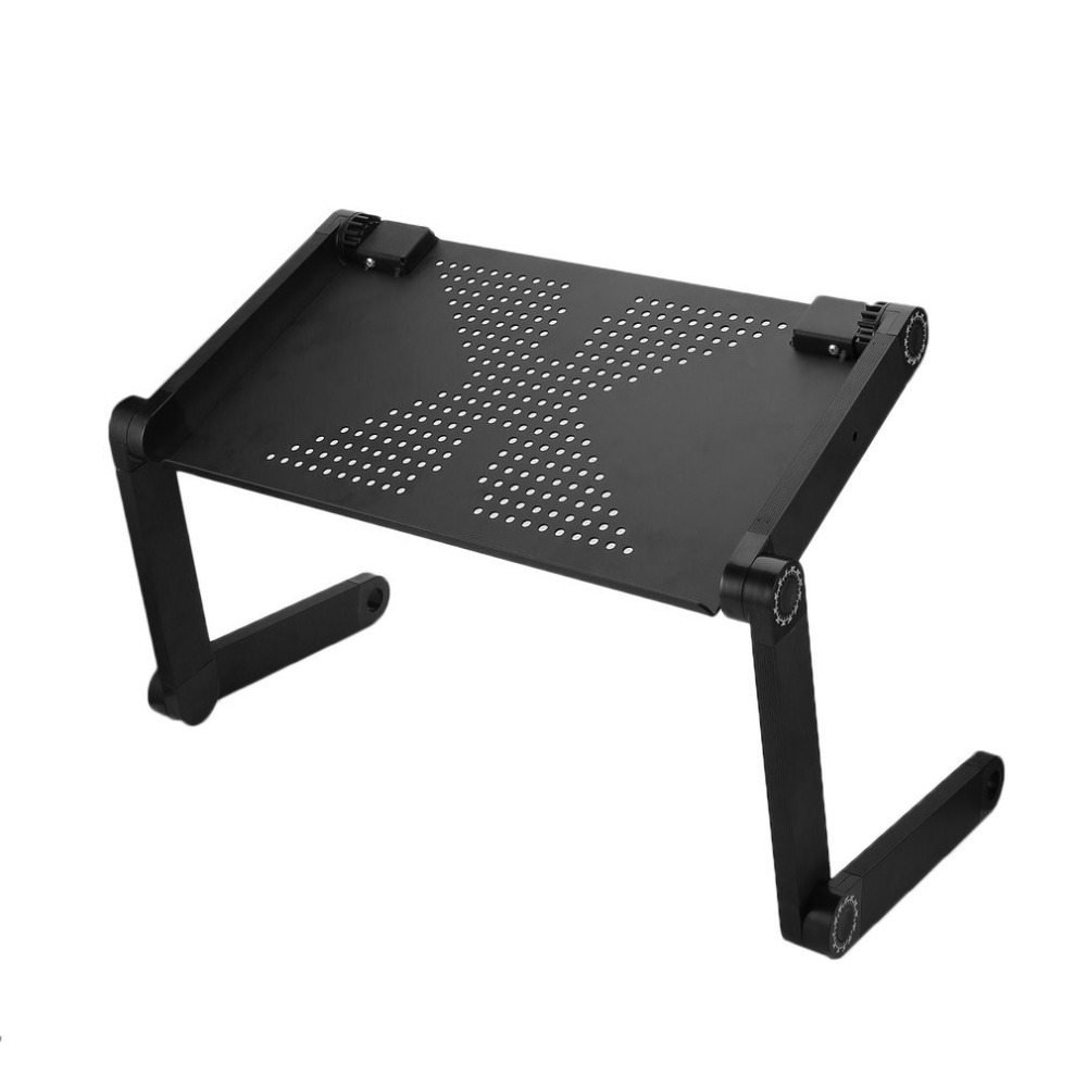 Portable 360 Degree Adjustable Laptop Notebook Table Stand Tray Lazy Foldable Aluminum A ...