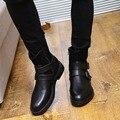 Панк Мартин сапоги кожаные мужские ботинки отдыха трубки ботинки мужские хлопок сапоги обувь для увеличения Британский теплый