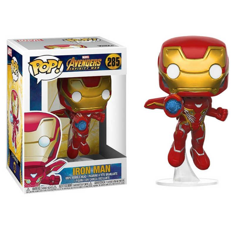 Funko POP 3 Avengers Iron Man Captain America Black Widow Winter Soldier Figura Modelo Coleção Toy Modelo Presentes para Crianças
