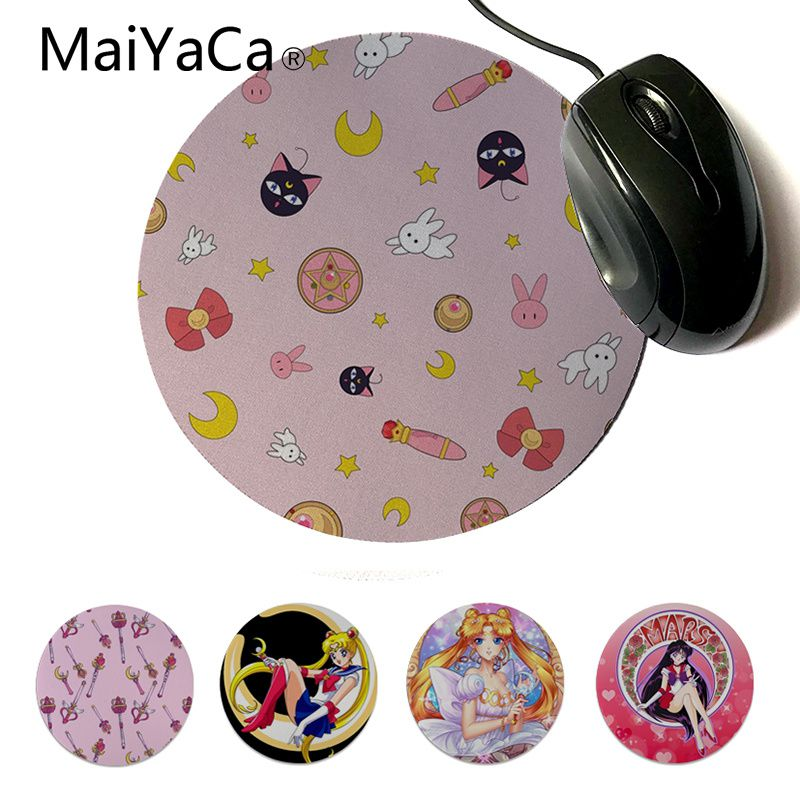 Mouse & Keyboards Popular Brand Maiyaca New Design Cactus Rubber Mouse Durable Desktop Mousepad Round Mouse Pad 22x22cm 20x20cm Small Unlocked Edge Mouse Mat