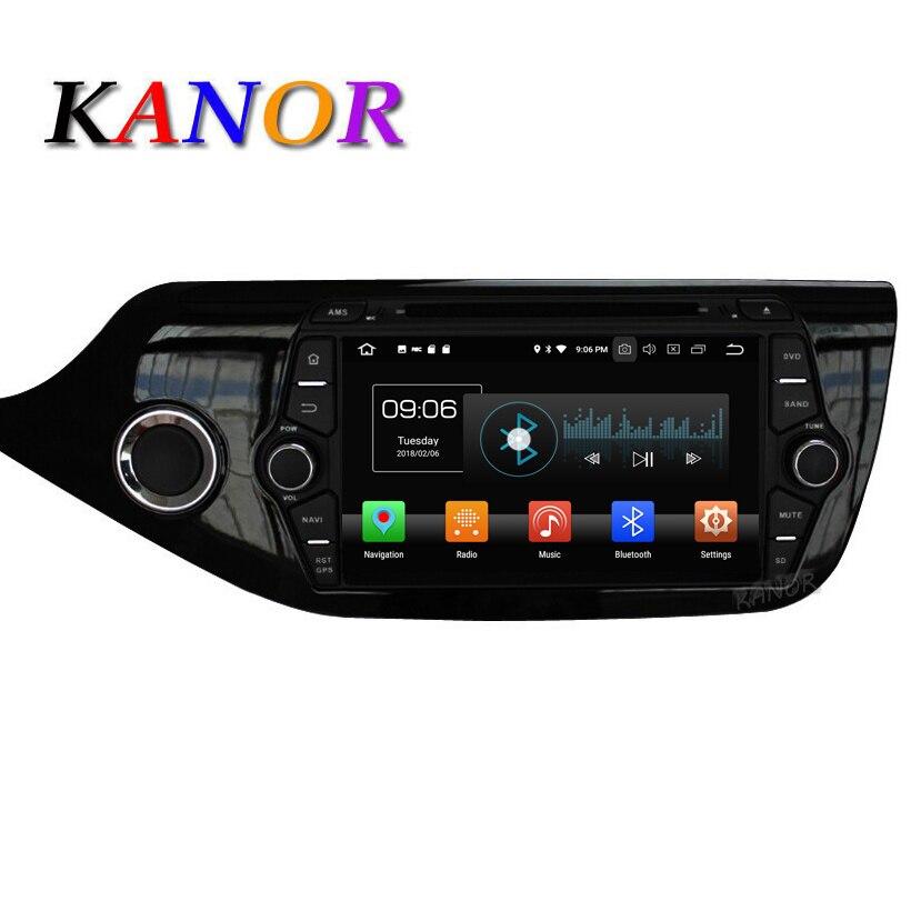 KANOR Android 8.0 IPS Octa core 4 + 32g Voiture GPS Multimédia lecteur Pour KIA Ceed 2013 2014 2015 Audio Radio Headunit Bluetooth