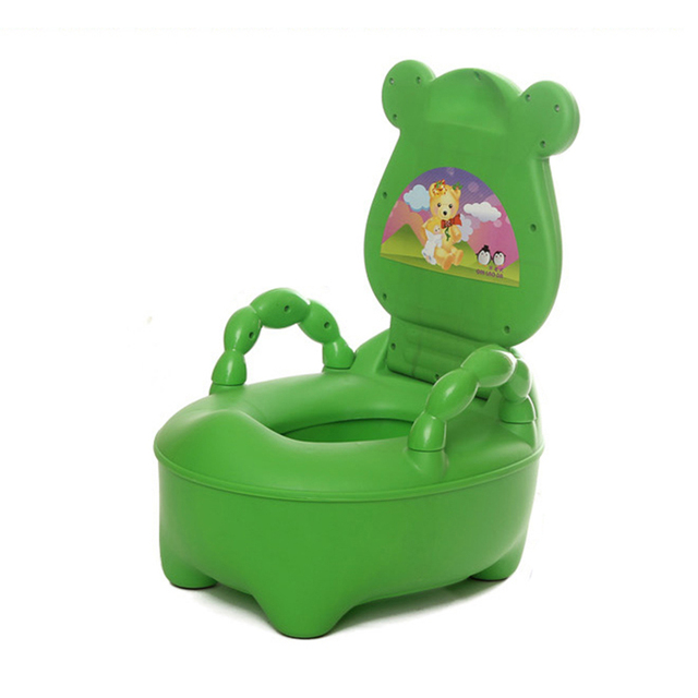 Plus Size Lovely Character Frog Shaped Baby's Potties Unisex Kids' Training Urinal Toilet PP Material Safety Children's Potties