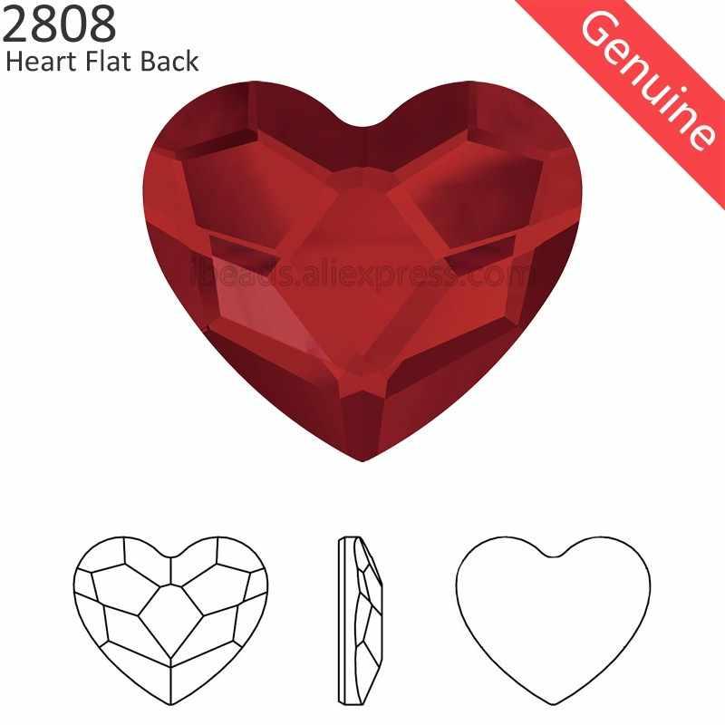 100% Originele Kristallen Uit Swarovski 2808 Hart Flat Terug Geen Hotfix Strass Voor Vrouwen Nail Art Kleding Decoratie