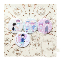4pcs Set Limited BL Comic Fujoshi Maya Hideyuki And Nemu Takasi Very Interesting Brooch Badge Bag