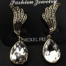 цена на Free Shipping! Hotsale Elegant OL Lady Green Crystal Stone Bowknot Stud Earrings for Women Jewelry