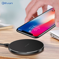 Universal Qi Wireless Charger 9V Fast Charging For Samsung Galaxy Note 8 S9 S8 Plus USB
