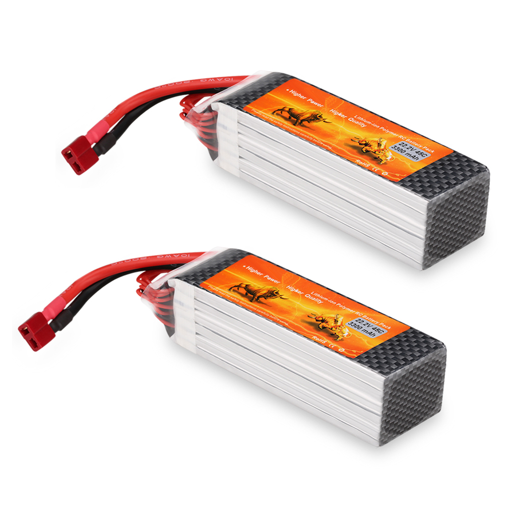Top Deals 2X Rechargeable 3300mAh 22.2V 45C 6S LiPo Battery Pack for RC Car Truck Airplane 10pcs charger ac 100 240v for rechargeable glow plug igniter ignition sc1800mah for rc car baja car buggy truck airplane